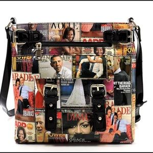 ‼️Magazine Cover Collage Cross Body Bag